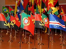 Bandeiras de países de secretária