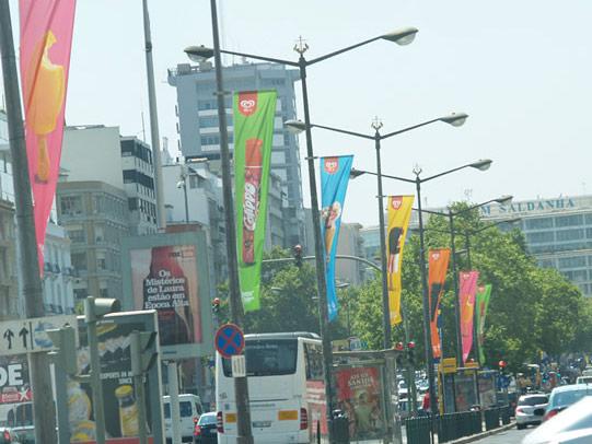 Bandeiras para eventos nacionais e internacionais