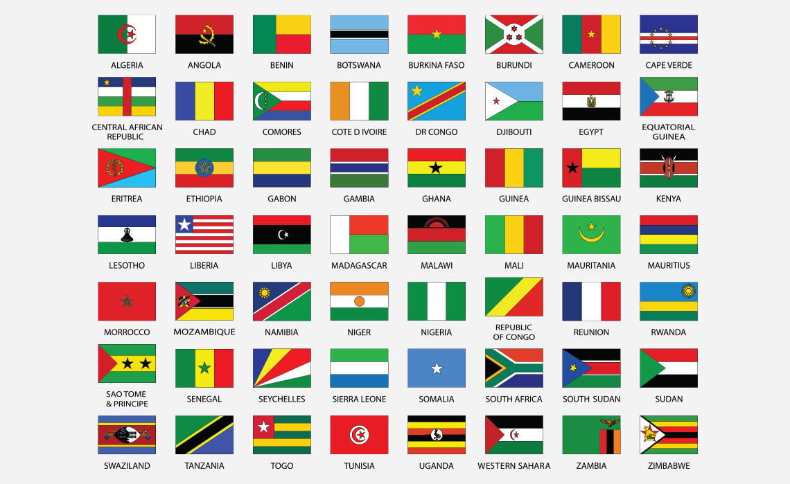 Bandeiras dos países de África