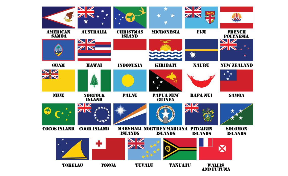 Bandeiras dos países da Oceânia
